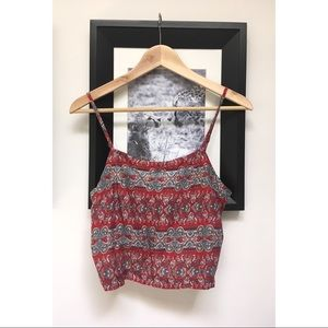 Tops - FREE NWT Cropped Split Back Tank